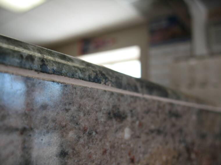 Bullnose Trim Piece on Counter Top