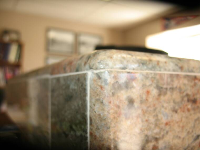 Rounded Bullnose Corner on countertop